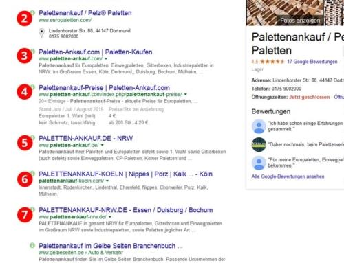 Erfolgreiche Google Positionierung durch Satelliten