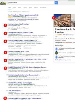 Erfolgreiche Google Positionierung durch Satelliten 9